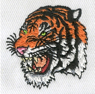 Embroidery Digitizing Sample: Tiger