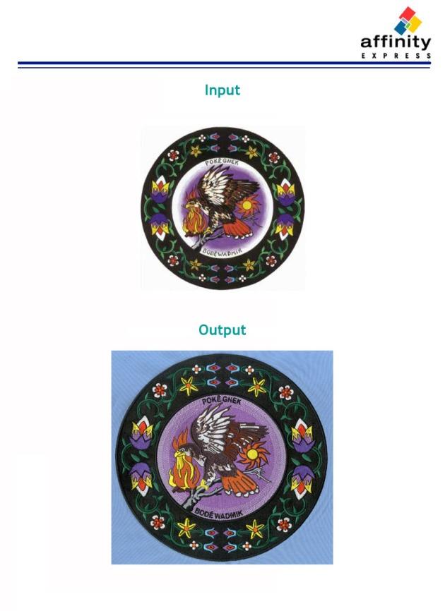 Digitizing Sample: Eagle and Flowers