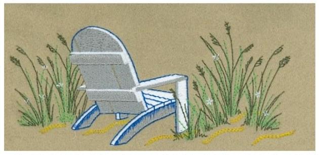 Sample Embroidery Digitizing Design: Beach Chair