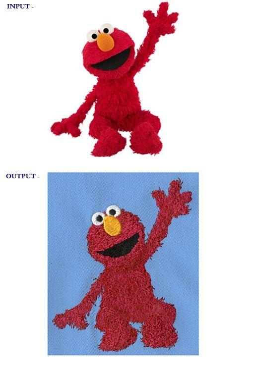 Embroidery Design Sample: Elmo