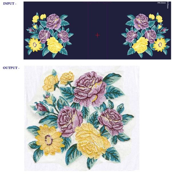 Embroidery Design Sample: Flowers