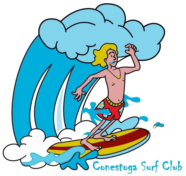 Sample Vector Artwork Design: Surfer