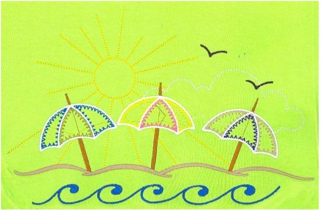 Sample Embroidery Digitizing Design: Umbrellas