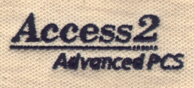 Embroidery Digitizing Sample: Open Space in Letters - Before