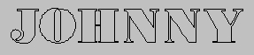 Embroidery Digitizing Sample: Thin Font - Before