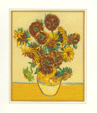 Affinity Express Holiday Card: Van Gogh's Sunflowers in Embroidery
