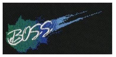 "Embroidery Digitizing Sample: ""Boss"""