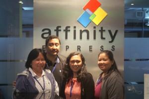 Affinity Express Employee Charm Artiaga with the S.P.E.E.D. Team
