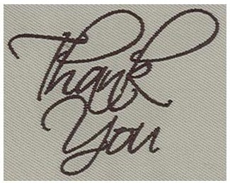 Thank You in Embroidery