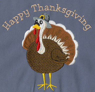Embroidery Digitizing Sample: Happy Thanksgiving