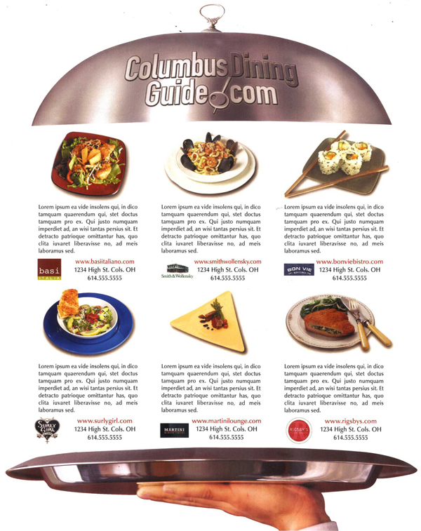 Print Design: Dining Guide