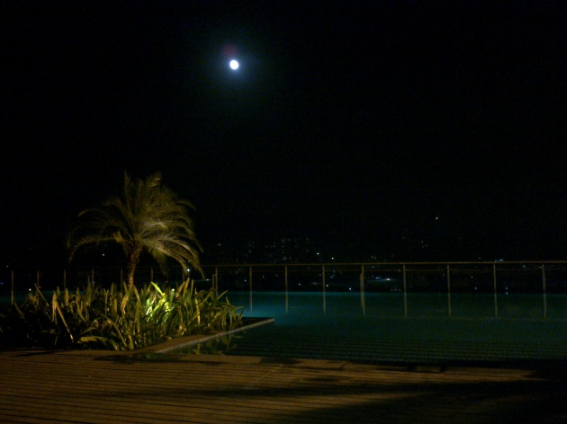 The pool on the rooftop of the Holiday Inn in Mumbai