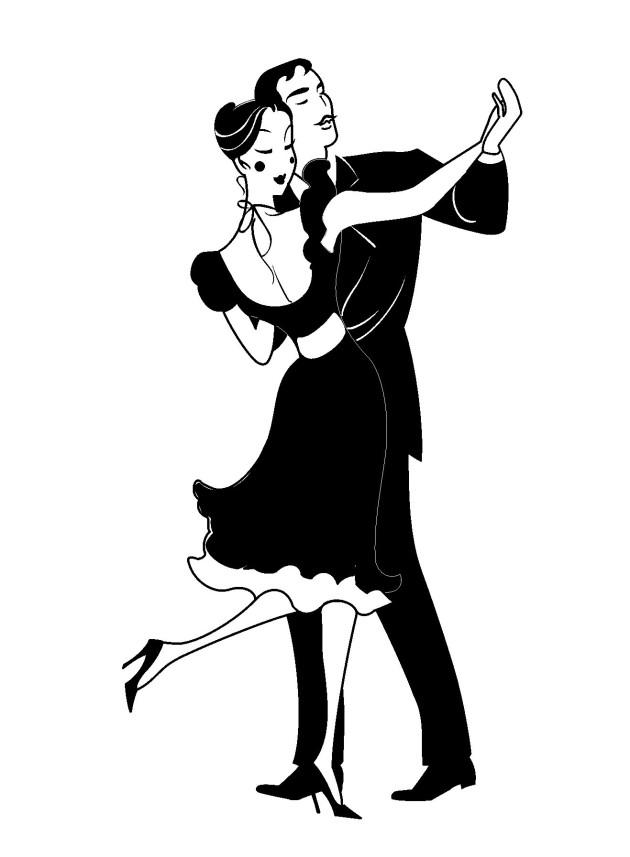 Vector Artwork Sample Design: A Couple Dancing