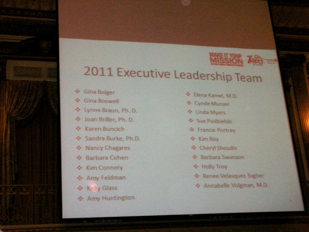 Leadership Team Slide with Kelly Glass's Name