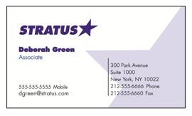 Sample Business Card With A Clean and Effective Design