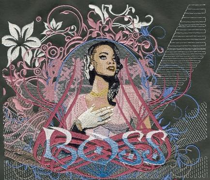 Embroidery Digitizing Sample Design: Woman Boss
