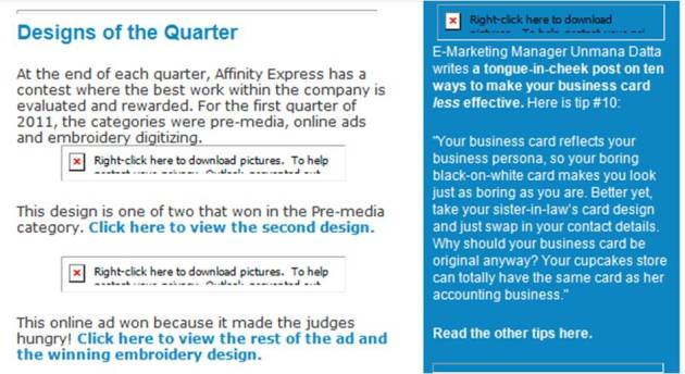 Ad Express with images blocked