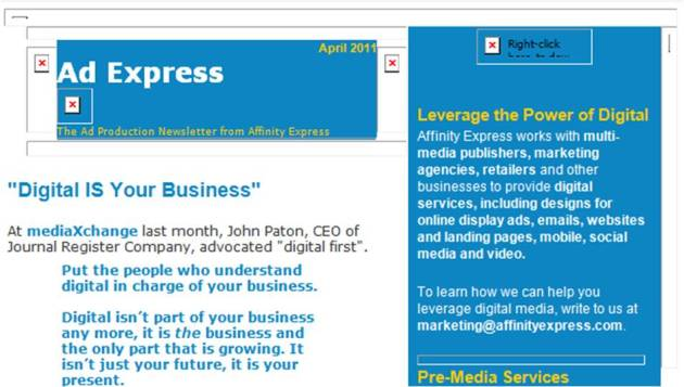 Ad Express header with images blocked