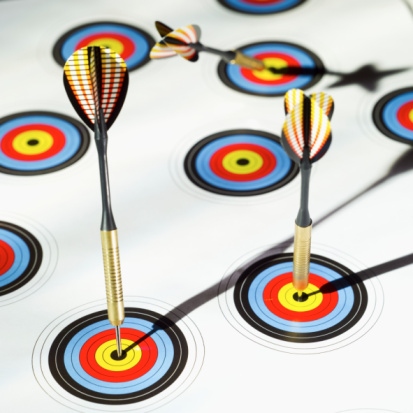 Dartboard with mutliple targets