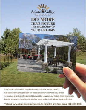 Print Ad for Outdoor Furnishings Business (Hand)