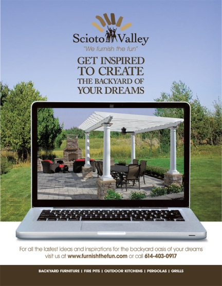 Print Ad for Outdoor Furnishings Business (Laptop)