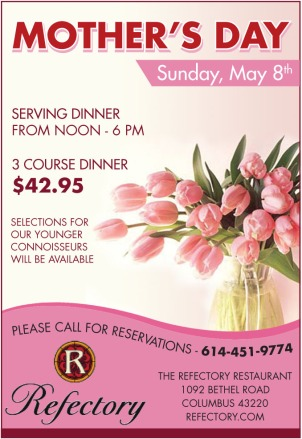 Mother's Day ad with pink roses