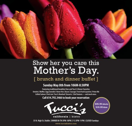 Mother's Day ad with tulips