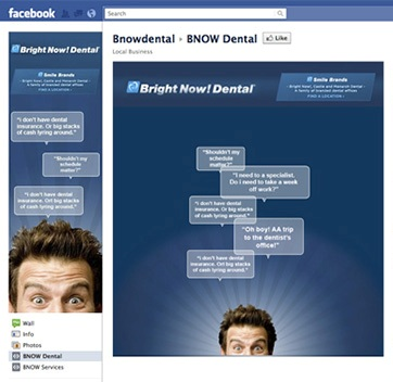 Facebook Page designed by Affinity Express for BNOW Dental