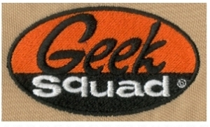 Embroidery Digitizing Design: Geek Squad