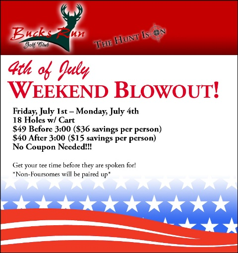 Poster for 4th of July weekend blowout