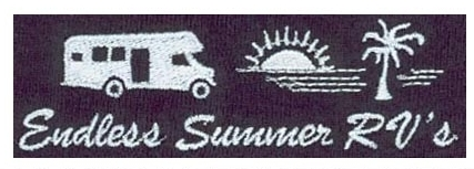Embroidery digitizing design for Endless Summer RVs