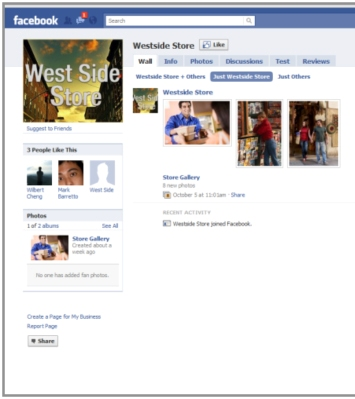 Facebook Page designed by Affinity Express