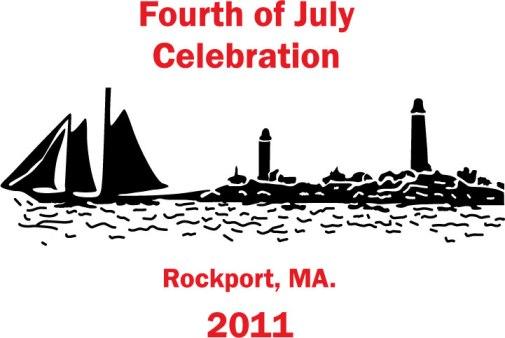 Fourth of July celebration at Rockport, MA.: vector artwork