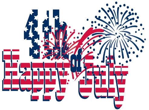 Happy 4th of July: vector artwork image with fireworks