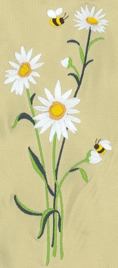 Embroidery digitizing design of summer daisies