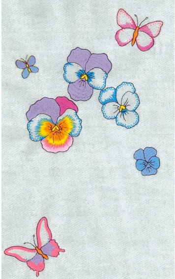 Embroidery digitizing design of summer pansies