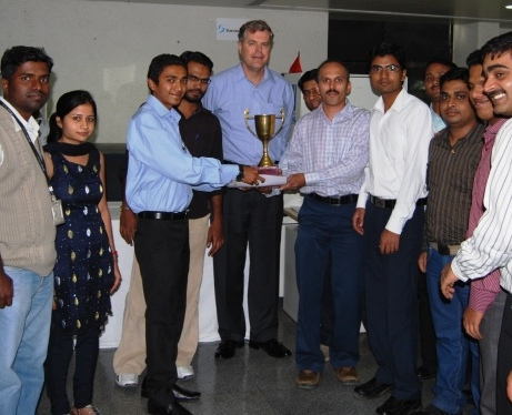 Award function in India office of Affinity Express