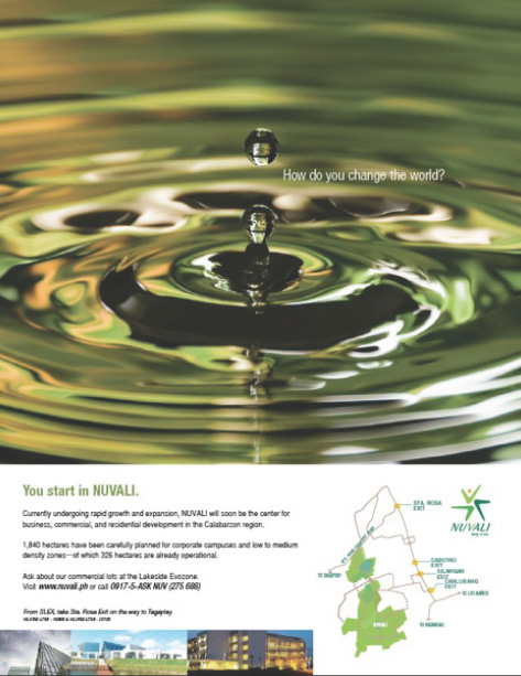 Ad illustrating use of green color