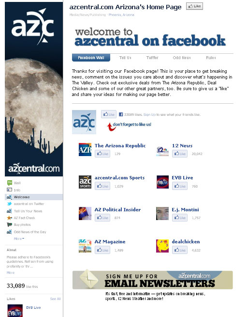 AZ Central on Facebook: Welcome