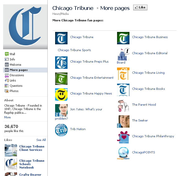 Chicago Tribune on Facebook: More Pages