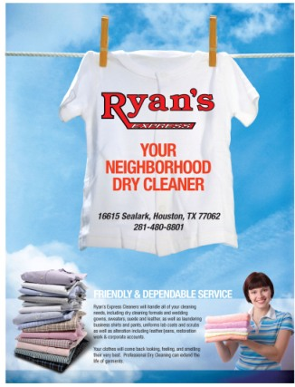 Print ad for laundry service