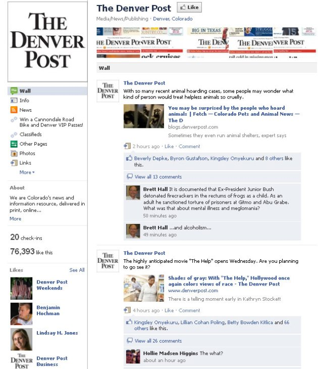 Denver Post on Facebook: Wall