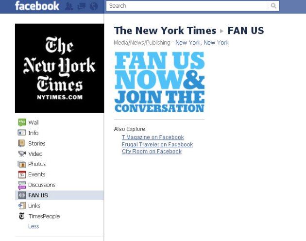 New York Times on Facebook: Fan Us