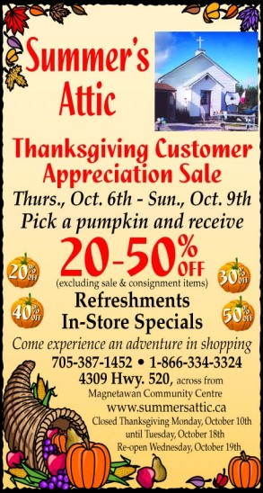 Newspaper print ad for Thanksgiving sale created by the Affinity Express team