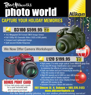 Ad for camera for winter holidays