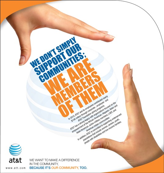 Print ad for community support