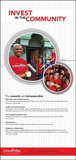 Print ad for community involvement