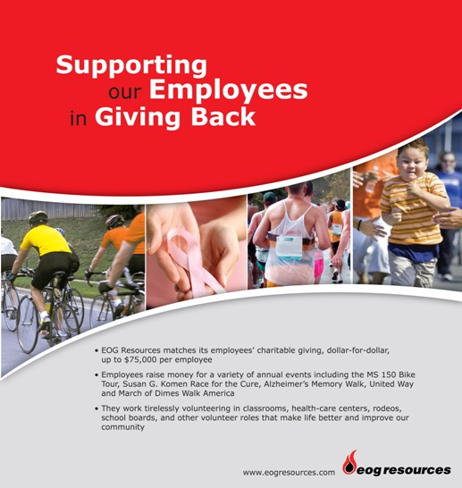 Print ad on supporting employees