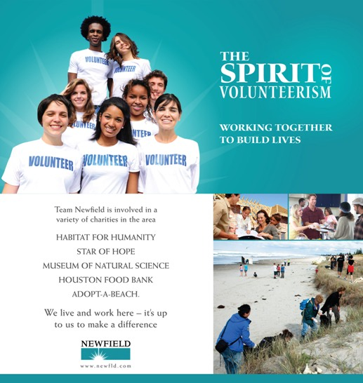 Print ad for volunteerism