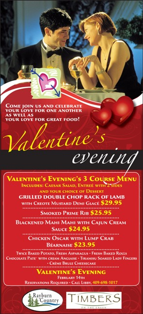 Ad for Valentine's Evening